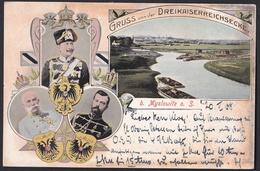 Hrl_ Ansichtskarte -  Gruss Von Der Dreikaiserreichsecke - 1908 - Schlesien