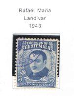 Guatemala PO 1943 Landivar    Scott.308+used  See Scans On Scott.Pages - Guatemala