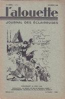 Les Scouts De France L Alouette Journal Des éclaireuses N°2 Novembre 1934 - Scouting