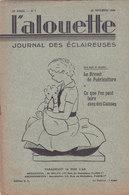 Les Scouts De France L Alouette Journal Des éclaireuses N°3  25 Novembre 1934 - Scoutisme