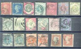 Grande Bretagne - Lot De 19 Valeurs Oblitérés Avant 1900 , états Divers  - T36 - 1840-1901 (Regina Victoria)