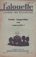 Les Scouts De France L Alouette Journal Des éclaireuses N°7  25 Janvier 1935 - Scoutisme