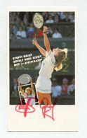 STEFFI GRAF TENNIS LEGEND SIGNED AUTOGRAPH POSTCARD AUTOGRAMMKARTE DUNLOP - Tennis