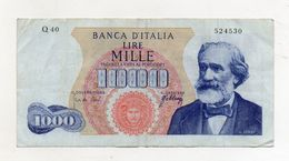 "Italia - Banconota Da Lire 1.000 ""Verdi ""- Medusa - 1° Tipo - Decreto 20.05.1966 - (FDC8505) - [ 2] 1946-… : République"