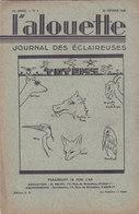 Les Scouts De France L Alouette Journal Des éclaireuses N°9  25 Février 1935 - Scoutisme