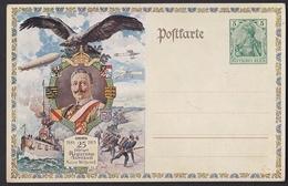 Hrl_ Deutsches Reich - Ganzsache 25-jähriges Regierungsjubiläum Kaiser Wilhelm II. - Ungebraucht - Deutschland
