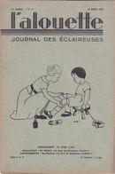Les Scouts De France L Alouette Journal Des éclaireuses N°11  25 Mars 1935 - Scoutisme