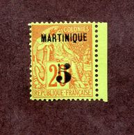 Martinique N°1 N* TB Cote 80 Euros !!!RARE - Martinique (1886-1947)