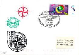 """(BWH2) NATO-Einsatz Bundeswehr SFOR Cachetumschlag """"SFOR GECONSFOR"""" SSt 21.4.1997 BREMEN 114 - Covers & Documents"""