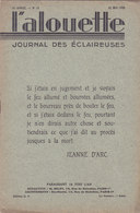 Les Scouts De France L Alouette Journal Des éclaireuses N°15  25 Mai 1935 - Scoutisme