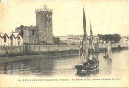 France - Vendée - Les Sables D'Olonne - Le Phare De La Chaume à L'entrée Du Port - Jehly-Poupin Nº 36 - Ecr. Timb. 4871 - Sables D'Olonne