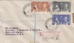 BRITISH GUIANA 1937 - Schöne 3 Fach Frankierung Auf R-Brief Gel.n.Trinidad - Britisch-Guayana (...-1966)