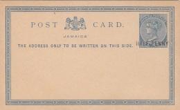 JAMAICA 189? - Half Penny Auf 1 P Ganzsache Pk ** Nicht Gelaufen - Jamaica (...-1961)