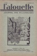 Les Scouts De France L Alouette Journal Des éclaireuses N°4  10 Décembre 1935 - Scoutisme