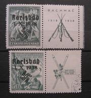 Dt.Reich Besetzungen 1938 * Karlsbad Ungebraucht & Gestempelt    (K306) - Ocupación 1938 – 45