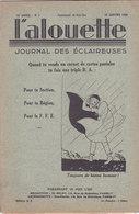 Les Scouts De France L Alouette Journal Des éclaireuses N°7  25 Janvier 1936 - Scoutisme