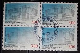 FRANCE - ANNEE 1996 - TIMBRE DE SERVICE OBLITERE N° YVERT 116 - BLOC DE QUATRE AVEC CACHET ROND / CACHET A DATE - Dienstzegels