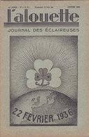 Les Scouts De France L Alouette Journal Des éclaireuses N°8  Février 1936 - Scoutisme