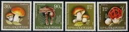 ALBANIE CHAMPIGNONS, CHAMPIGNON, MUSHROOM, YVERT N° 2219/2222. MNH, Neuf Sans Charniere - Paddestoelen