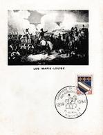 Troyes 1964 - BT Napoléon Campagne De France & Les Marie-Louise - Chevaux Cavalier - !! Bord Plié - Cachets Commémoratifs