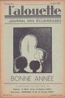 Les Scouts De France L Alouette Journal Des éclaireuses N°6 10 Janvier 1938 - Scoutisme