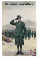 UN SALUTO DALL'ALPINO - VIAGGIATA FP - Regiments