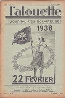 Les Scouts De France L Alouette Journal Des éclaireuses N°8 10 Février 1938 - Scoutisme