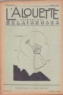 Les Scouts De France L Alouette Journal Des éclaireuses N°9 25 Février 1938 - Scoutisme