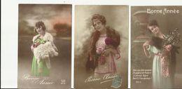 Lot 8 Cartes Femmes Début 20 ème Siècle Fourrure - Mode