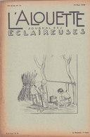 Les Scouts De France L Alouette Journal Des éclaireuses N°10  10 Mars 1938 - Scoutisme