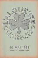 Les Scouts De France L Alouette Journal Des éclaireuses N°14  10 Mai 1938 - Scoutisme