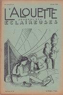 Les Scouts De France L Alouette Journal Des éclaireuses N°16  10 Juin 1938 - Scoutisme