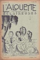 Les Scouts De France L Alouette Journal Des éclaireuses N°18  15 Juillet 1938 - Scoutisme