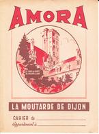 VP-GF.18-145 : PROTEGE-CAHIER.  MOUTARDE DE DIJON. AMORA. LA TOUR DU GUET DE PHILIPPE LE BON - Protège-cahiers