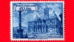 Nuovo - MNH - VATICANO - 1949 - ML -  Basiliche Romane - S.Maria Maggiore - 40 - Neufs