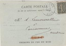 Carte Postale  Du CHEMIN DE FER DU MIDI - Schienenverkehr