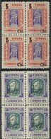 ESPAÑA BENEFICENCIA 1938 HABILITADOS 27/8** MNH BL4 - Beneficenza