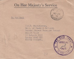 SEYCHELLES 1972 - Firmen-Brief Gel.v. Seychelles N.London - Seychellen (...-1976)