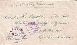 Seltener Kriegsbeleg 1944 - Brief Mit 4 Seltenen Stempel - 1939-45