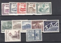 ÖSTERREICH Postfrisch Jahrgang 1955 (Ank1021 Bis 1032) **, Guter Zustand, Ohne Falz, Katalogwert > 130 € - 1945-60 Neufs