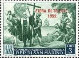 REPUBBLICA DI SAN MARINO 1952 FIERA DI TRIESTE FAIR LIRE 3 MNH - Ungebraucht