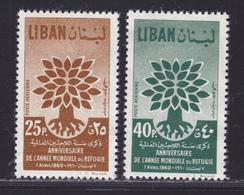 LIBAN AERIENS N°  191 & 192 ** MNH Neufs Sans Charnière, TB (D5299) Année Mondiale Du Réfugié - Liban