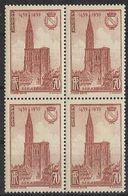 France - 1939  - Bloc De 4 - Cathédrale De Strasbourg - Y&T N° 443 ** Neuf Luxe  ( Gomme D'origine Intacte). - France