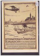 AVION - AVIATION - REPRO DE L' AFFICHE: SCHAUFLIEGEN ROMANSHORN 1924 - CARTE NEUVE - TB - Suisse