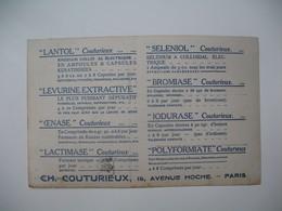 Publicité   Carte Comportant 8 Produits De CH. Couturieux - Publicidad