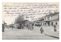 (19053-77) La Ferté Sous Jouarre - Place De La Gare - Train - Animé Attelage - La Ferte Sous Jouarre