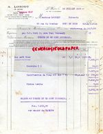 76- LE HAVRE- RARE FACTURE A. LORIOT- 33 RUE JULES LECESNE- A M. LANCRET EPICERIE 33 RUE DU MOUTIER SUCY EN BRIE -1927 - Levensmiddelen
