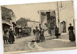 11 MARCORIGNAN - Avenue De La Place - Très Animée, Important Chargement De Tonneaux - Autres Communes
