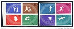 POLAND 1960 Olympic Games Imperforate Set MNH / **.  Michel 1166-73B - 1944-.... Republic