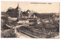 SAINT BENOIT Du SAULT  36  Autour De L' église En 1937 - Autres Communes